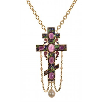 CROSS WITH AMETHYST