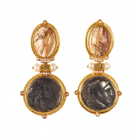 EARRINGS WITH COINS